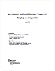 Cover of Marine Ambient and Outfall Monitoring Program - 2003 Sampling and Analysis Plan
