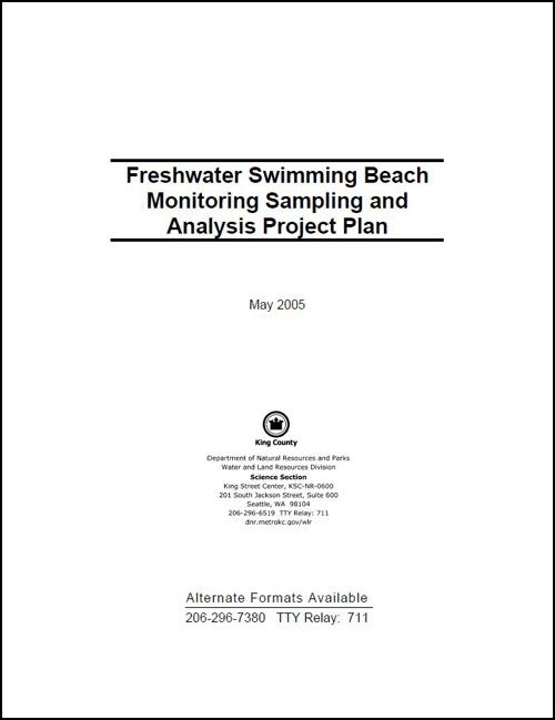Freshwater Swimming Beach Monitoring Sampling and Analysis Plan