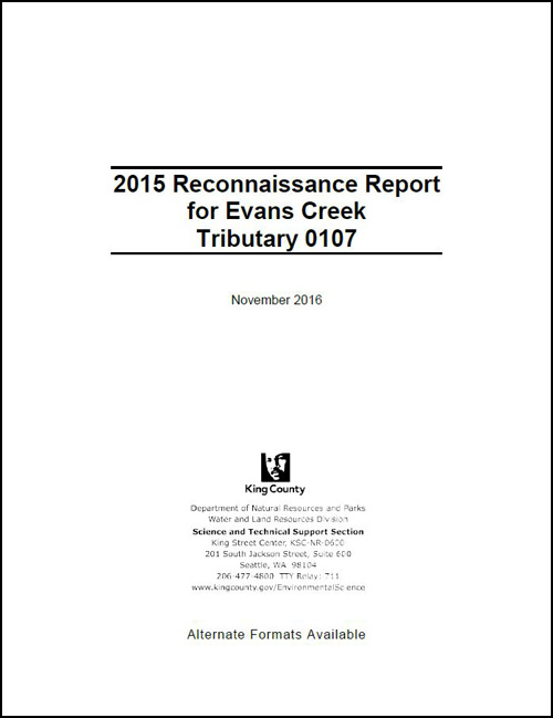 2015 Reconnaissance Report for Evans Creek Tributary 0107