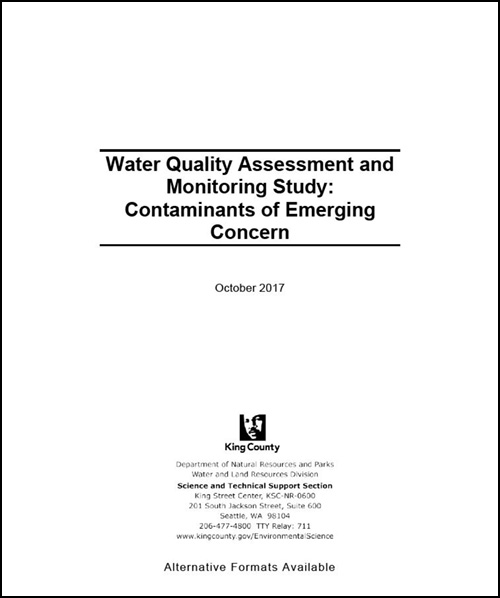 Water Quality Assessment and Monitoring Study: Contaminants of Emerging Concern