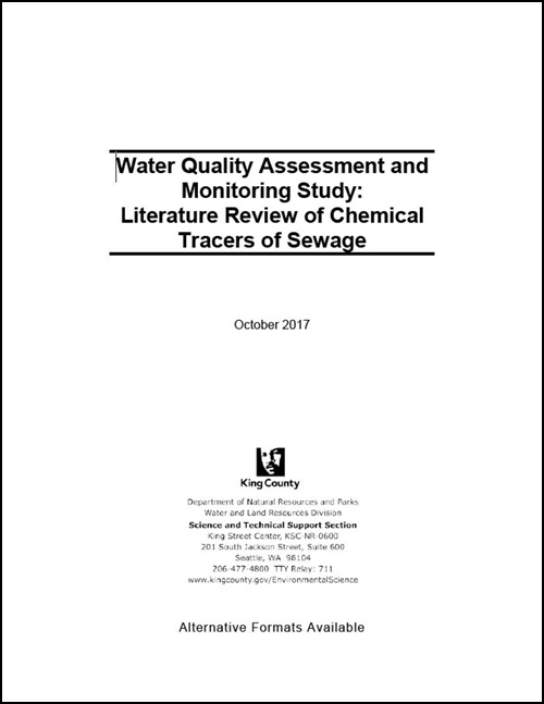 Water Quality Assessment and Monitoring Study:  Literature Review of Chemical Tracers of Sewage