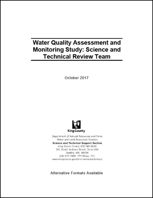 Water Quality Assessment and Monitoring Study:  Science and Technical Review Team Report