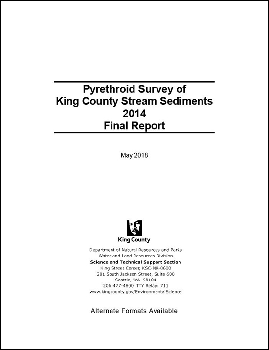 Pyrethroid Survey of King County Stream Sediments 2014 Final Report
