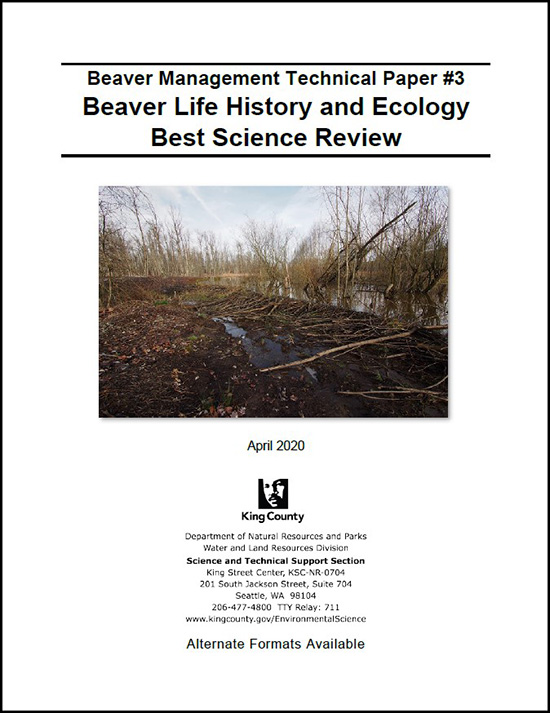 Beaver Management Technical Paper #3: Beaver Life History and Ecology Best Science Review