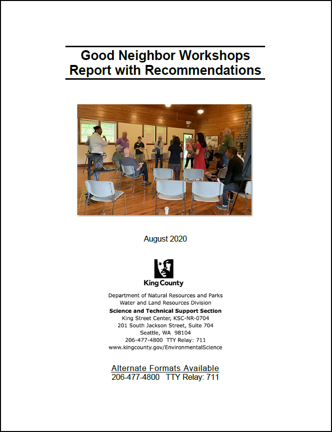 Good Neighbor Workshops Report with Recommendations