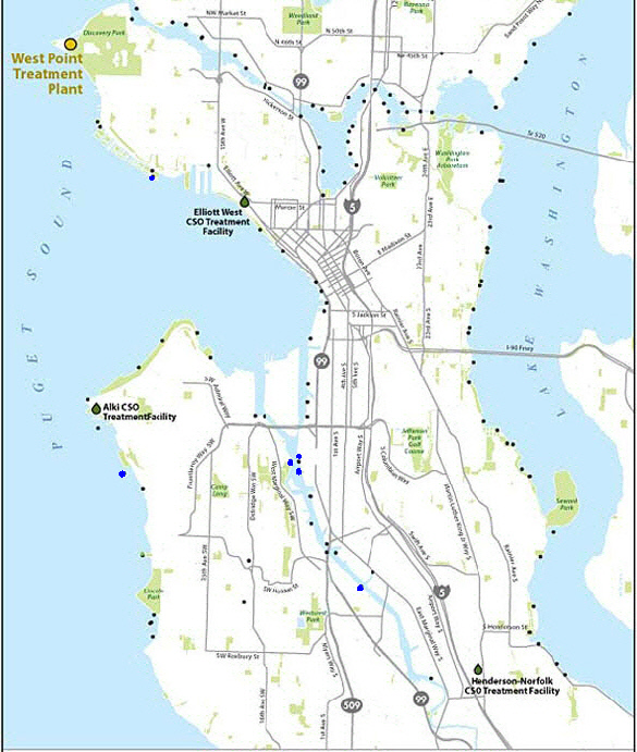 Combined Sewer Overflow Locations: Seattle