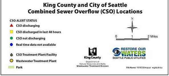 Combined Sewer Overflow Legend: Seattle