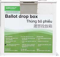 Ballot drop box photo